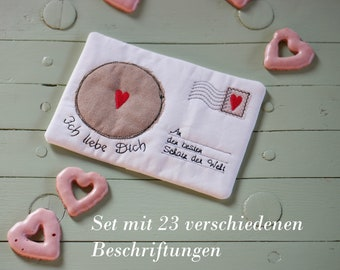 Embroidery files set ITH 13x18 - Love Letter Mug Rug with 23 different labels