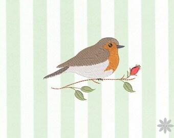 Embroidery file 13x10 - Robin