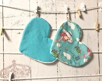 Embroidery Files Set ITH 13x18/16x26 - Washcloth Hearts Make-up Hearts