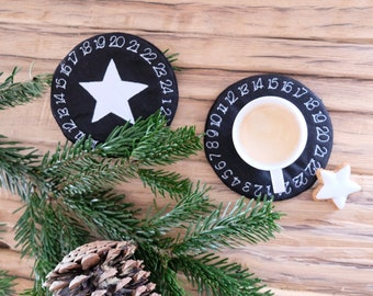 ITH Embroidery Files Set 18x13 - Advent WreathS Coasters Stars + Blank