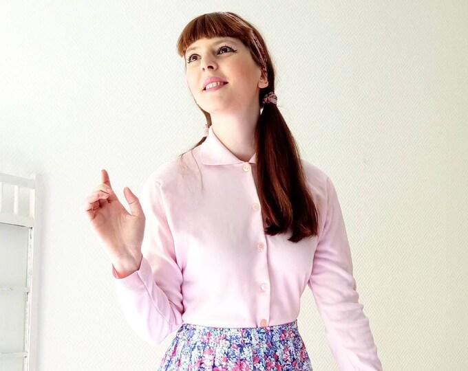 Vintage jacket 1960's deadstock dredged pink Ban-lon /Vintage 1960's deadstock Ban-lon drage pink cardigan