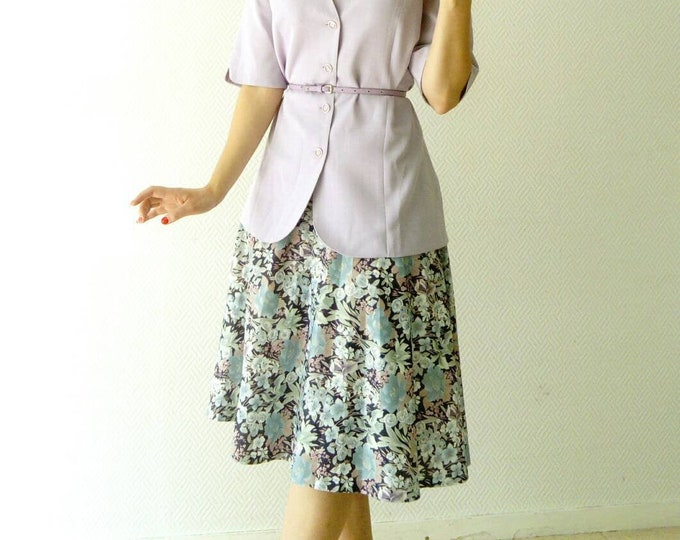 Floral skirt 40s /40's floral style skirt