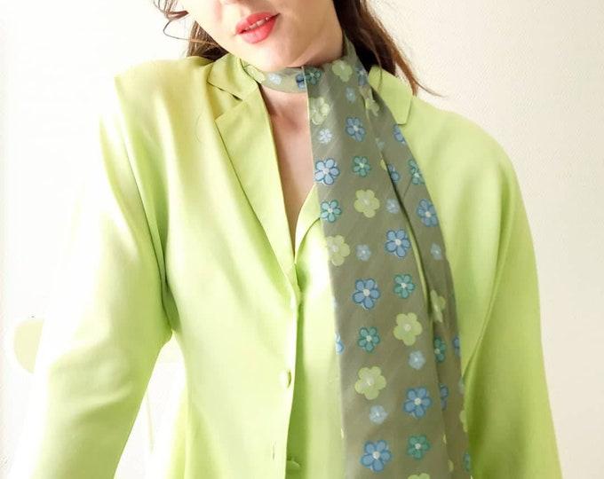 Vintage floral print tie 90s hippy style 70 //Vintage 70's style 90s boho floral print print tie