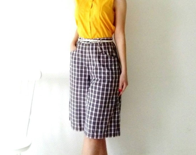 Skirt panties style 50/50 's style Plaid trousers