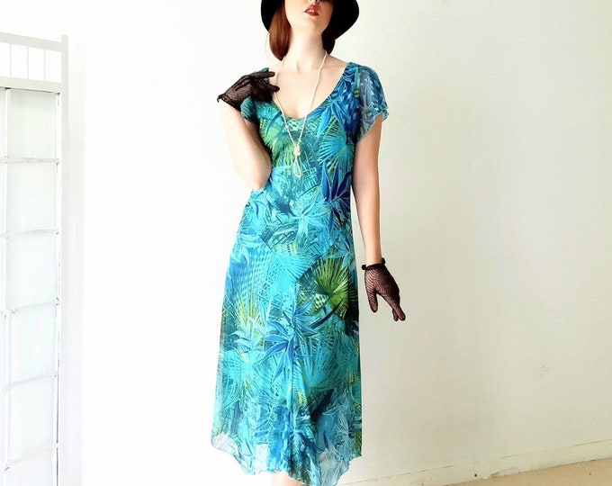 Summer floral dress afibel style 20 // 1920's floral style summer dress