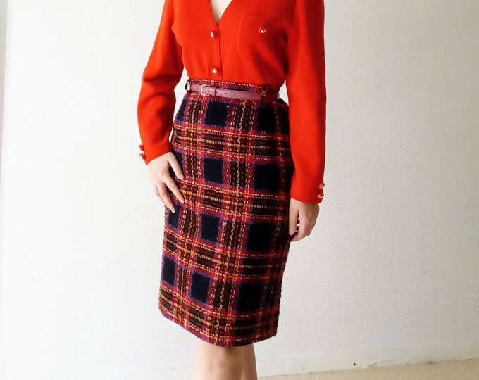 60s Scottish vintage skirt //60s tartan skirt style