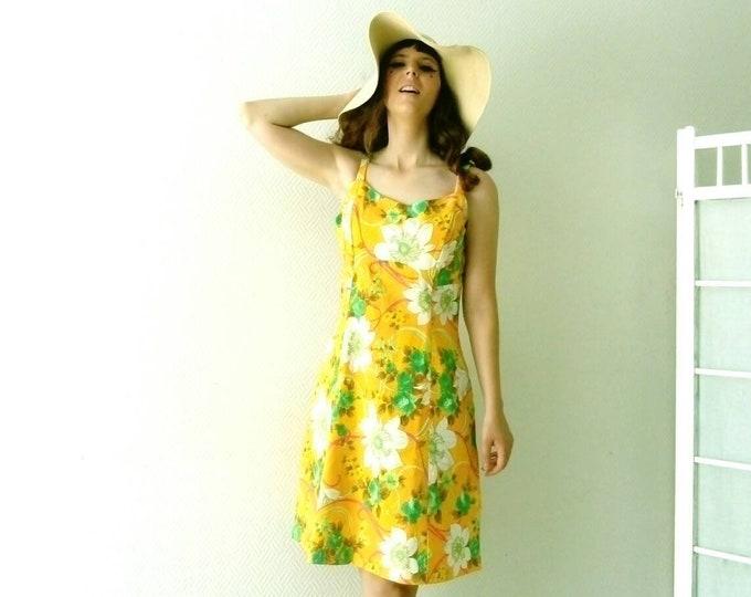Hippy floral dress 70s /70's floral hippy dress