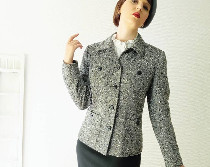 Caroline Rohmer's chic tailored jacket 1990s style 50 ///1990's does 50's Caroline Rohmer chic suit jacket