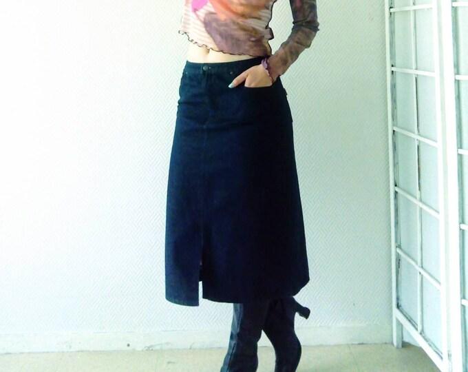Jean's 90s skirt //90's Jean's skirt