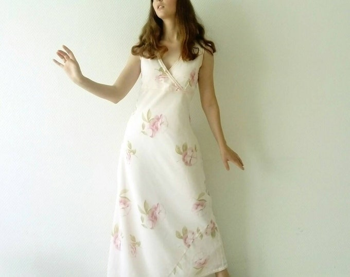 60s /60s style pastel style long dress pastel