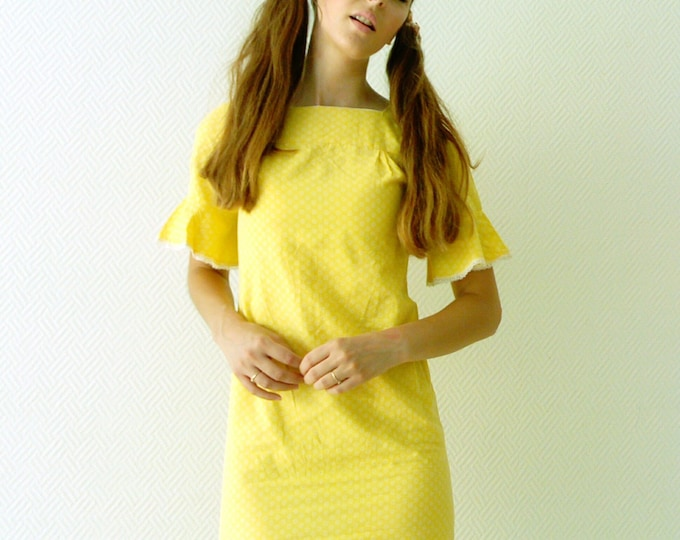Robe jaune années 60/60's yellow dress