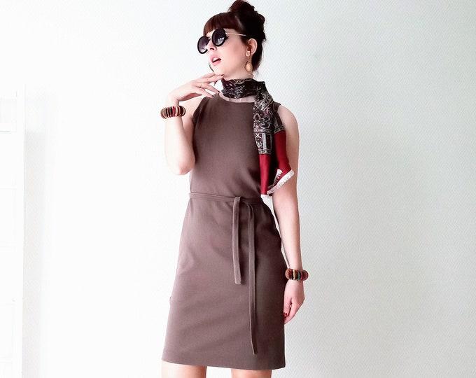 Vintage Dress 1960's deadstock olive green BAN-LON// Vintage 1960's deadstock olive green dress