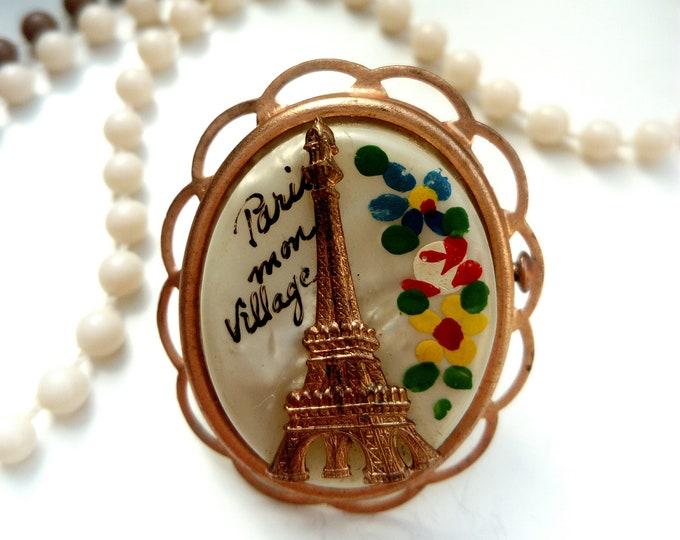 Brooch souvenir Paris vintage 50s/50s vintage Paris souvenir brooch