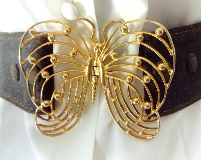 70s/ 70's butterfly buckle belt
