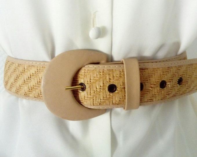 alain MANOUKIAN 80s/ 1980s's Alain Manoukian straw belt