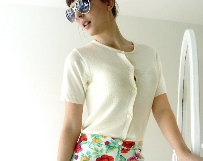 short sleeves Cardigan style 50's / 50's style short sleeve cardigan