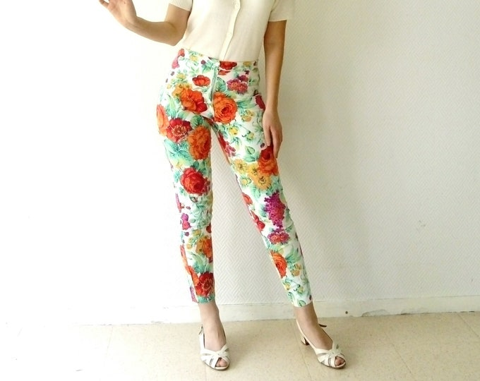 Floral pants style 60's / 60s style floral pants