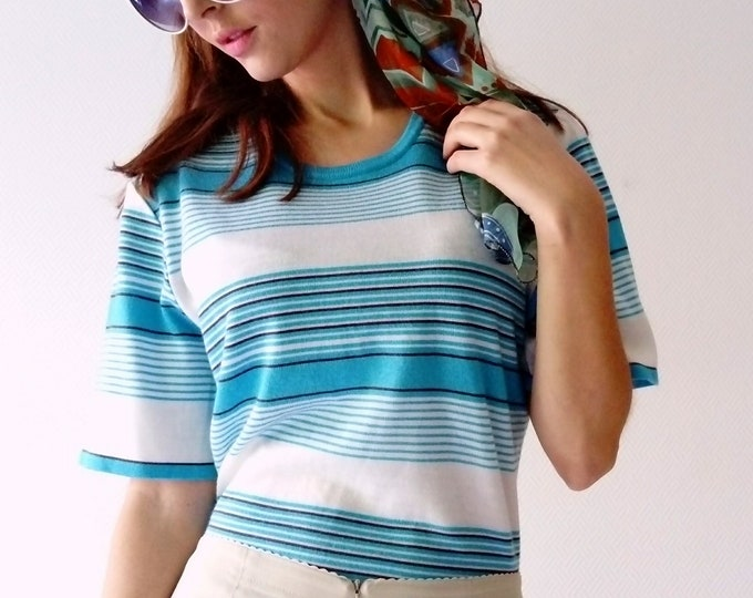Stripe style 60's 60's sweater style stripes sweater