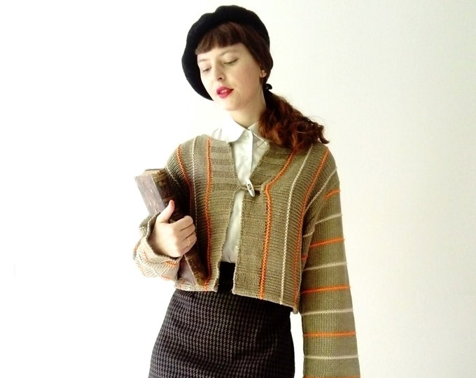 Striped waistcoat retro /Retro Stripes cardigan