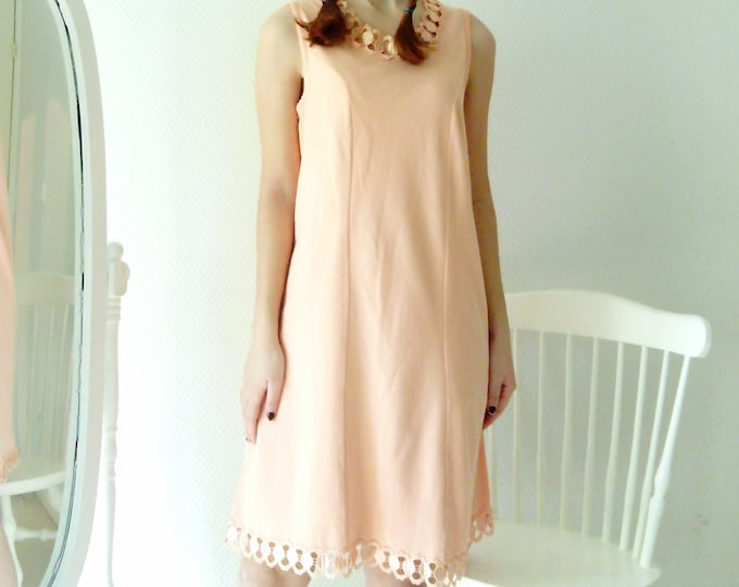 Salmon /Salmon Petticoat Nightie combination