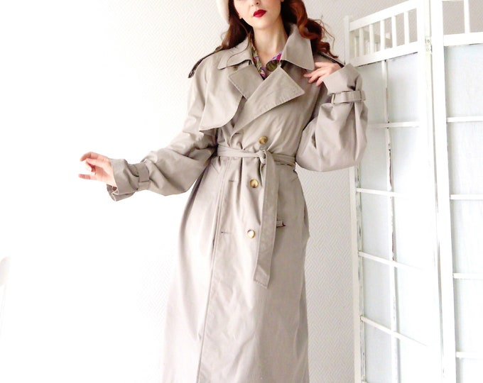 Trench Coat Beige vintage /Vintage Nude Trench Coat