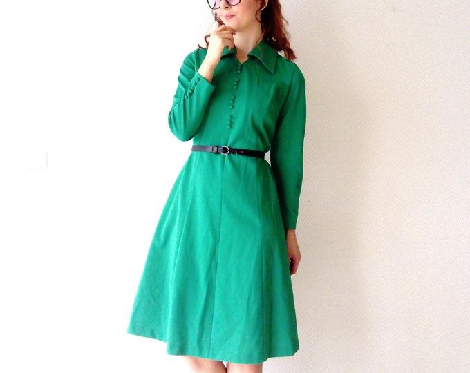 Dress green 70's / 70s Green Dress