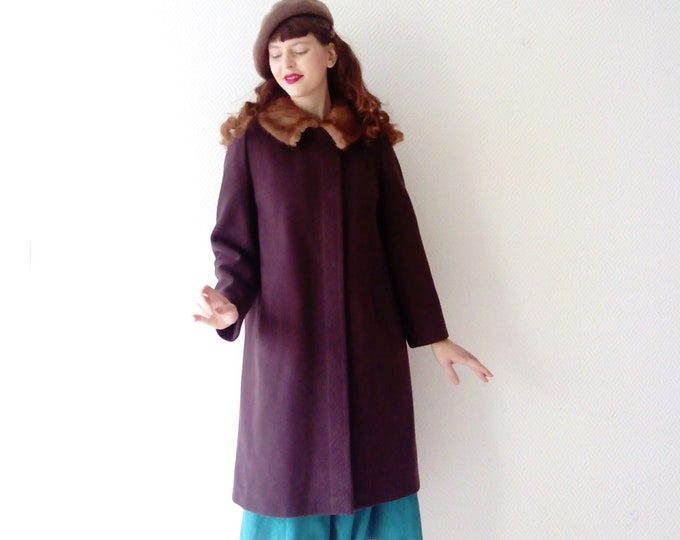 Manteau Marron Fourrure WEILL/WEILL FUR Brown Coat