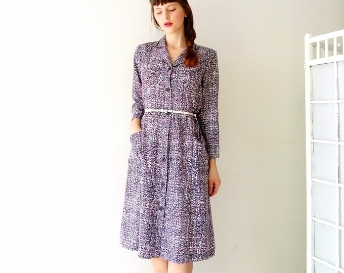Multicolored polka dot dress style 40's / 40's style multicolored dress