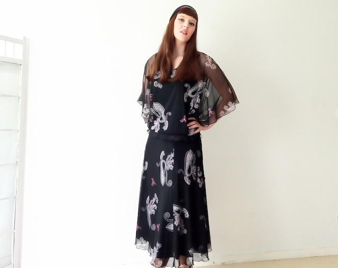 Vintage 90s style 70s pattern paisley// Vintage 1990's does 70's paisley print suit