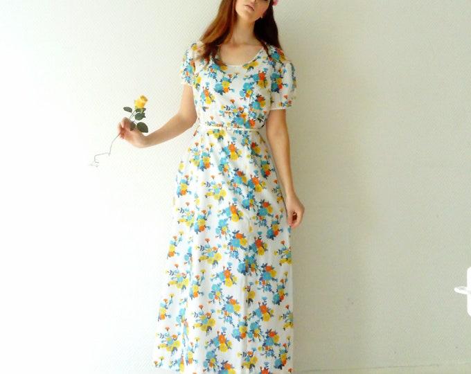 Long 1970s floral dress ' s/1970 's long floral dress