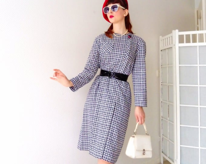 Plaid Style 50's 50's Style Dress Plaid dress