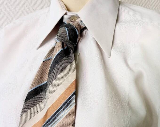 Vintage 80s style stripe tie //1950s style 80s stripes tie