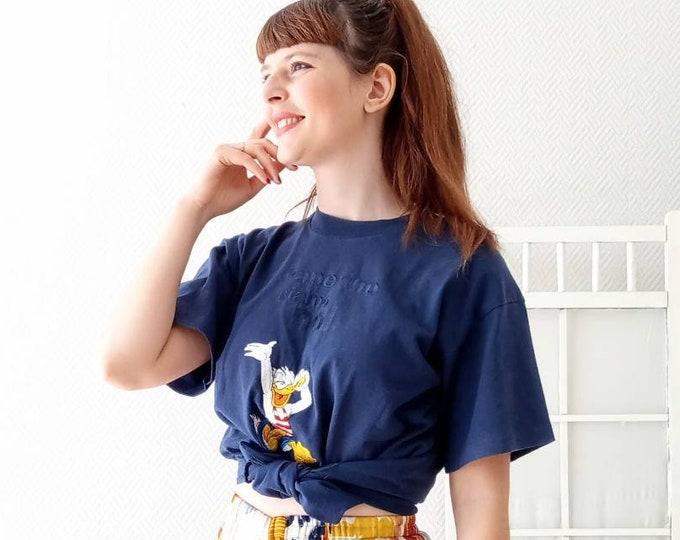 Vintage T-shirt 1990s disney donald // Vintage 1990's disney Donald t-shirt