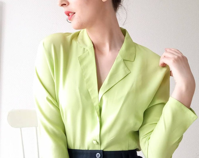90's style 90's style vintage 90's does 50's pistachio shirt
