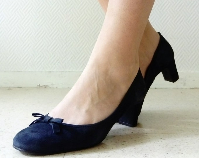 Ballerina blue heel retro/Retro ballerina
