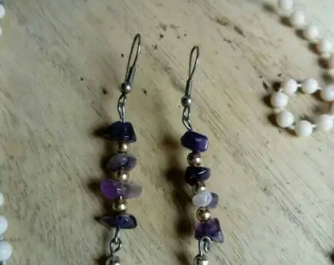 Purple /purple earring earring