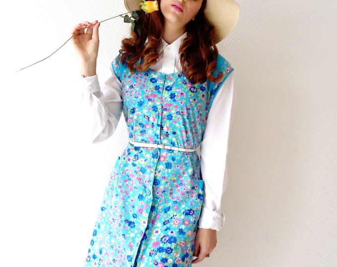Hippie 70s Style apron dress ' s/Hippy Dress Pinafore