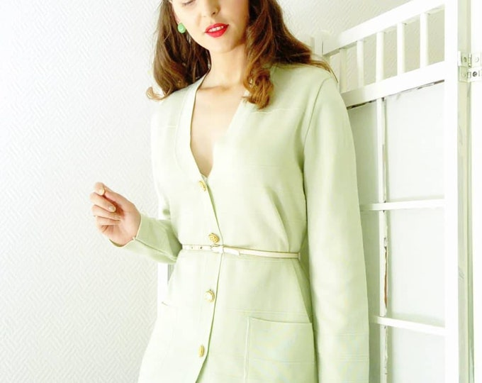 Vintage pistachio jacket / Vintage pistachio cardigan