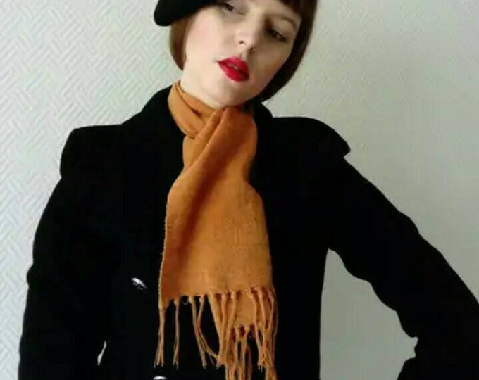 Écharpe jaune Vintage /vintage yellow scarf