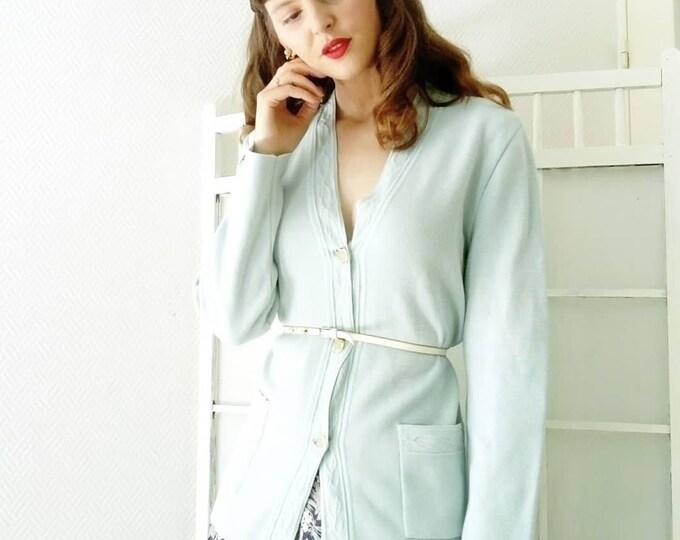 Vintage sky blue jacket / Vintage blue sky cardigan