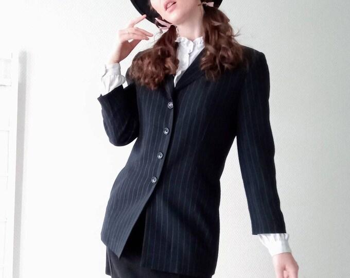 1990's vintage striped jacket Gérard Darel//1990's vintage Gérard Darel stripes follows jacket