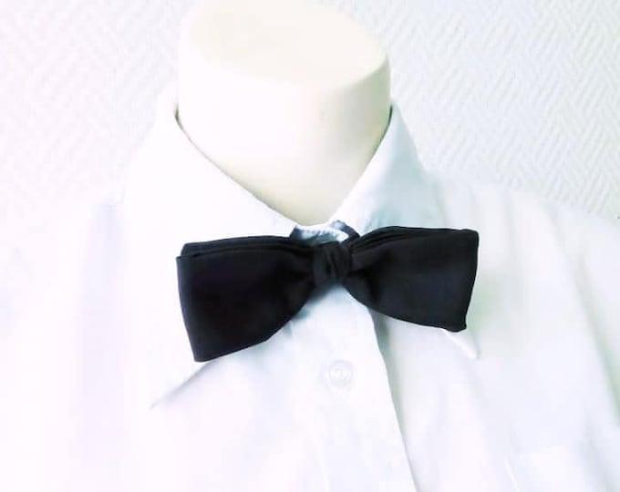 Vintage bow tie 1980's brown // Vintage 1980's brown bow neck