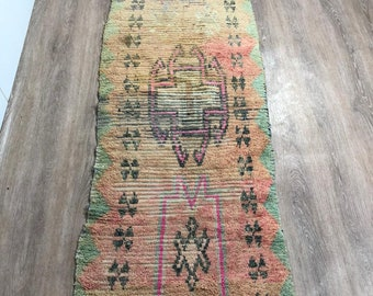 Moroccan rug , Handmade rug berber , Boujaad carpet , Vintage  Moroccan rug , Moroccan rug wool