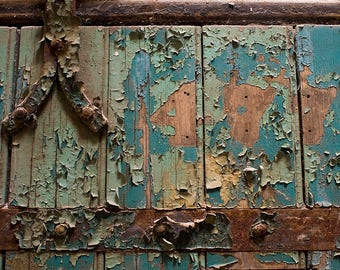 "Fine art photography color photograph old Philadelphia Pennsylvania peeling paint texture rustic historic vintage wall art ""Cell 477"""
