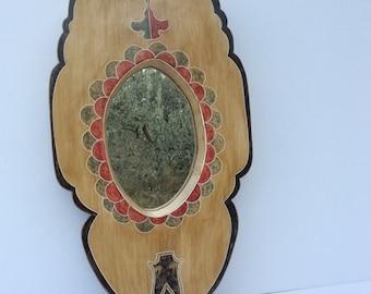 52 x 25 cm mirror frame with Heraldry