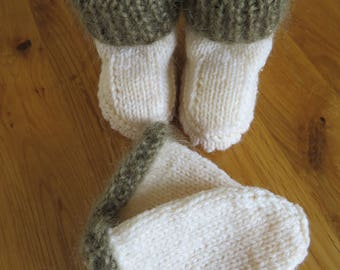 baby booties and mittens