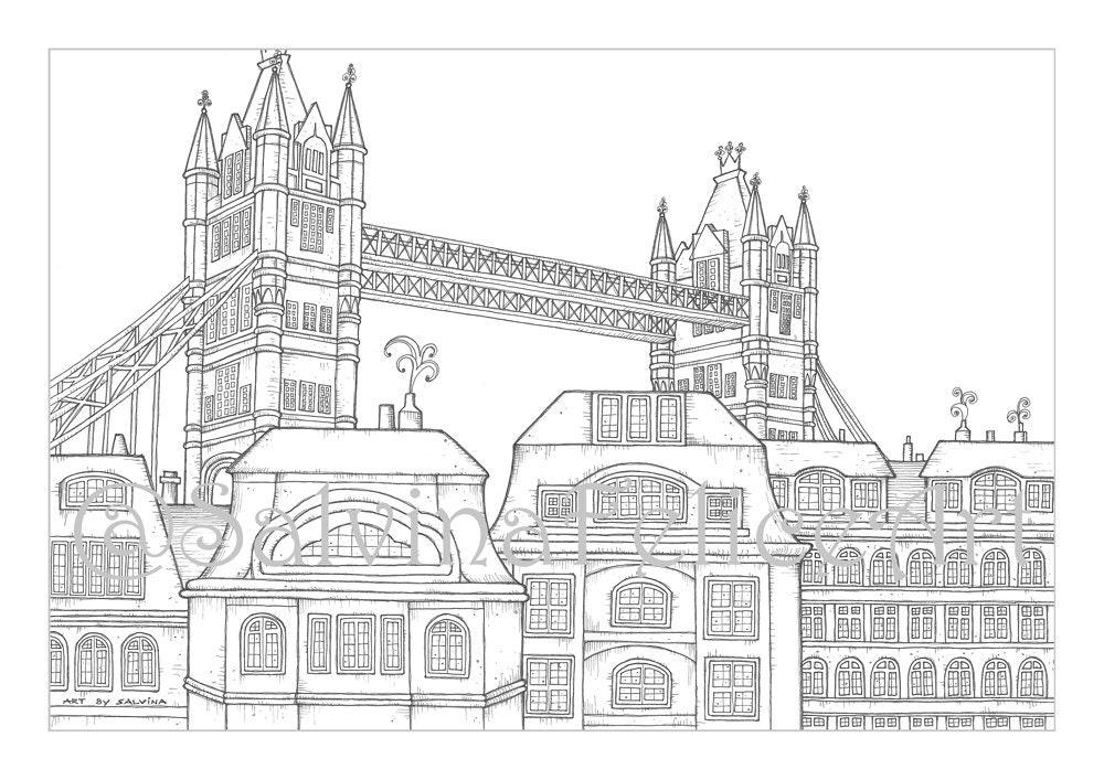londonstadtausmalbilder download digitaldruck von meinem
