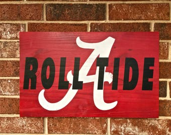 Alabama Roll Tide Sign. FREE SHIPPING