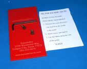 Bright Red Laser Cut Acrylic Seam Guide for Singer Featherweight 221 and other Singer Sewing Machines - 1 4 quot Seam Guide - Quilting