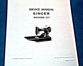 Singer Featherweight 221 Service Manual - Copy